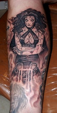 Demon lady tattoo  by fpista