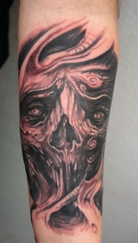Monster stuff tattoo by graynd