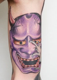 Violet demon tattoo